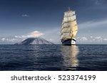 Beautiful Sailing Ship On The...