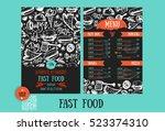 fast food menu design template...   Shutterstock .eps vector #523374310