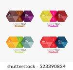 vector business geometric... | Shutterstock .eps vector #523390834