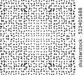seamless halftone geometric... | Shutterstock .eps vector #523401688