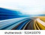 speed motion in urban highway... | Shutterstock . vector #523410370