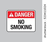 a vector danger sign that says... | Shutterstock .eps vector #523411024