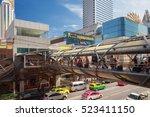 bangkok oct 22  petchaburi road ... | Shutterstock . vector #523411150