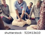 cpr first aid training  | Shutterstock . vector #523413610