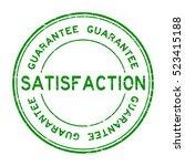 grunge green satisfaction... | Shutterstock .eps vector #523415188