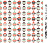 christmas ball pattern | Shutterstock .eps vector #523418818