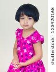 indian little girl and... | Shutterstock . vector #523420168