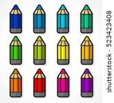 Color Rainbow Wooden Pencils....