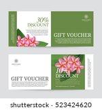 gift voucher for spa hotel... | Shutterstock .eps vector #523424620