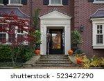 front door of house with... | Shutterstock . vector #523427290