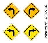 turn left or turn right sign... | Shutterstock .eps vector #523427383