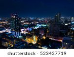 cityscape at night by long... | Shutterstock . vector #523427719