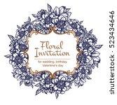 romantic invitation. wedding ... | Shutterstock . vector #523434646