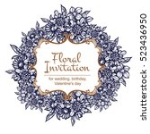 romantic invitation. wedding ... | Shutterstock . vector #523436950