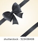 luxury black bow and ribbons... | Shutterstock .eps vector #523438408