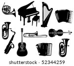 instruments | Shutterstock .eps vector #52344259