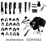 hair fashion | Shutterstock .eps vector #52344262