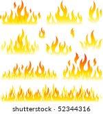 flame symbols | Shutterstock .eps vector #52344316