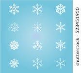 vector snowflakes. | Shutterstock .eps vector #523451950