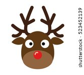 Stock vector deer head reindeer head isolated on white background vector illustration christmas design 523452139