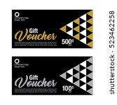 gift voucher  coupon template | Shutterstock .eps vector #523462258