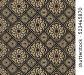 seamless pattern oriental... | Shutterstock .eps vector #523465870