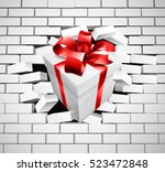 a white gift or present with... | Shutterstock .eps vector #523472848