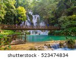 tad kwang sri  waterfall  ... | Shutterstock . vector #523474834
