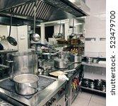 professional kitchen interior ... | Shutterstock . vector #523479700