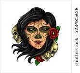 vector illustration of girl...   Shutterstock .eps vector #523485628