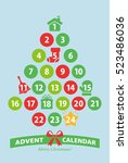 christmas advent calendar   Shutterstock .eps vector #523486036