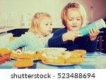 Laughing Small Sisters Enjoyin...