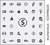 credit icons universal set for... | Shutterstock .eps vector #523498633