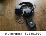 music headphone with music... | Shutterstock . vector #523501990