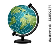 earth school geography globe....   Shutterstock .eps vector #523502974