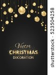 black and gold christmas... | Shutterstock .eps vector #523504258