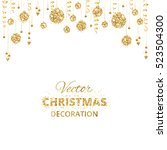 christmas background with... | Shutterstock .eps vector #523504300