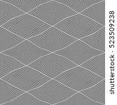 seamless wavy lines pattern.... | Shutterstock .eps vector #523509238