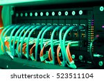 network switch and ethernet...   Shutterstock . vector #523511104