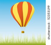 hot air balloon in the blue sky | Shutterstock .eps vector #52353199