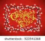 merry christmas poster with... | Shutterstock .eps vector #523541368