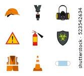 repairs icons set. flat... | Shutterstock . vector #523542634