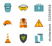 building tools icons set. flat... | Shutterstock . vector #523543018