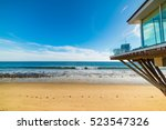 beach house in los angeles ... | Shutterstock . vector #523547326