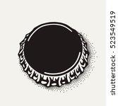 craft beer bottle cap in... | Shutterstock .eps vector #523549519