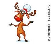 illustration of a happy cartoon ... | Shutterstock .eps vector #523551640