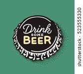 craft beer bottle cap with... | Shutterstock .eps vector #523555330
