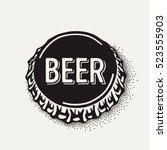 craft beer bottle cap with... | Shutterstock .eps vector #523555903