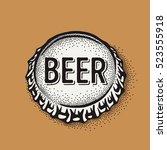 craft beer bottle cap with... | Shutterstock .eps vector #523555918