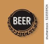 craft beer bottle cap with...   Shutterstock .eps vector #523555924